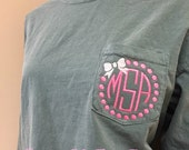 Items Similar To Monogram Comfort Colors Brand Long Sleeve