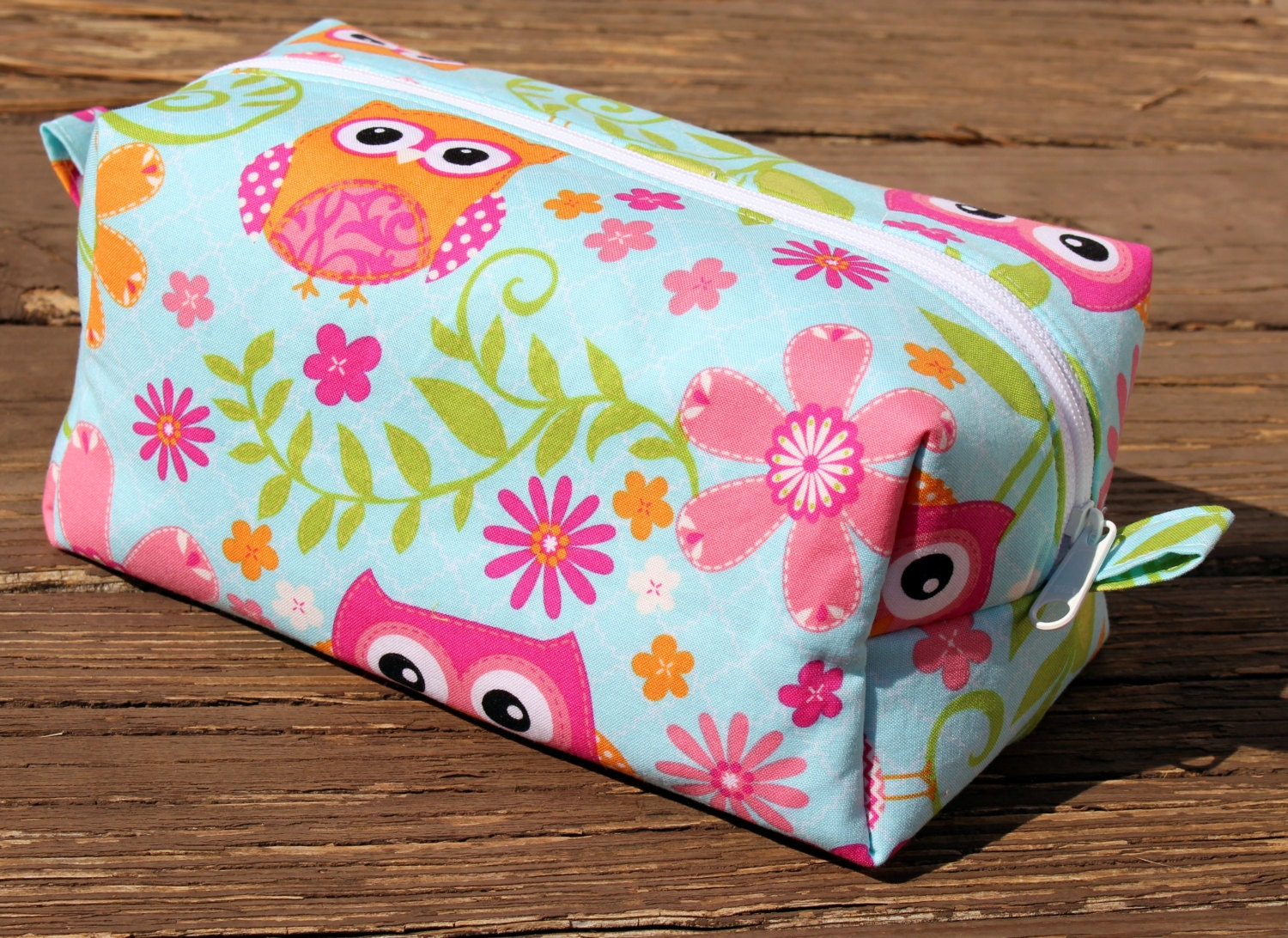Large Owl Makeup Bag Teen Gift Make Up Case Cute by GATotes