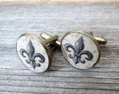 Fleur De Lis Cufflinks - Fleur De Lis Cufflinks For Men - Men's Jewelry - Men's Accessories - Gift For Men's - Groomsman Gift