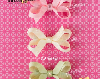 Boutique Hair Bow by TheButterThatFlies – baby hair bow – toddler hair bow – girl hair bow - Swarovski rhinestone