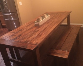 Rustic farm table for kitchen/dining room