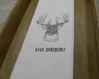 Flour Sack Tea Towels-Oh Deer!