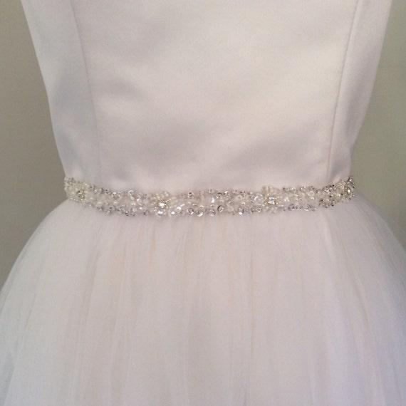 beaded belt bridal belt thin wedding dress belt