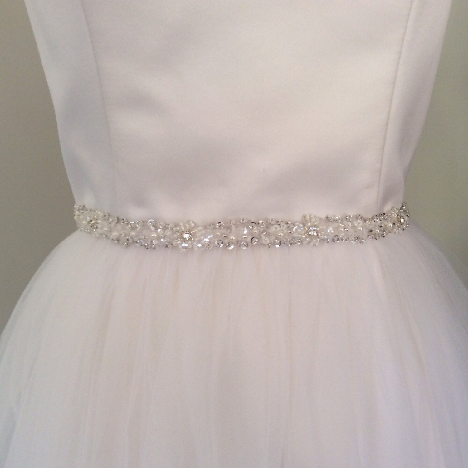 beaded belt bridal belt thin wedding dress belt
