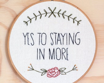 Liz Lemon quote, Tina Fey 30 Rock hand embroidered wall art, hoop art, television