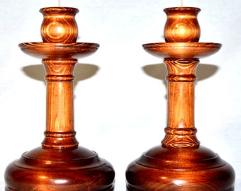 Candlestick Candle Holder (two) with a metal insert a support under candles a decor element the Christmas souvenir #P4