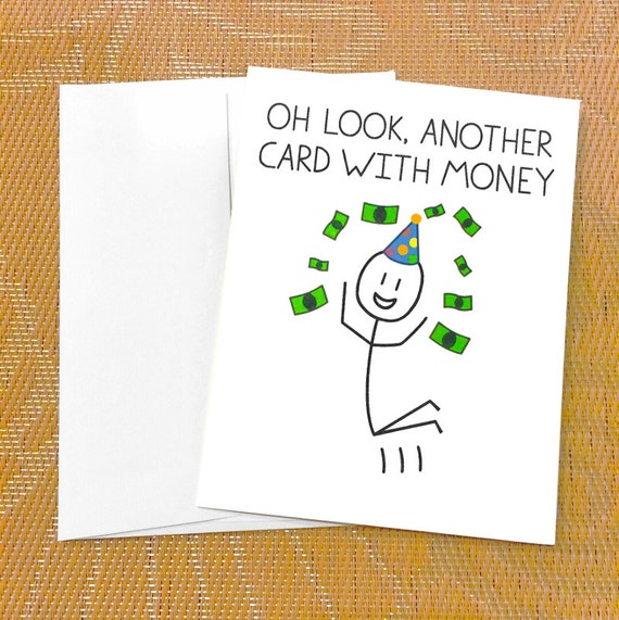 funny birthday card for teen funny money card oh look, Birthday card