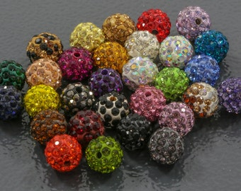 Premium Quality Clay PAVE Beads 10 pcs / 10mm