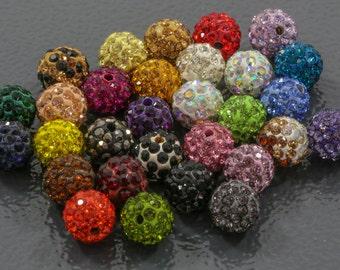 Premium Quality Clay PAVE Beads 10 pcs / 10mm