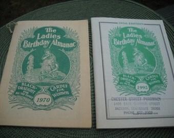Vintage Ladies Birthday Almanac 1970 (Bonus includes a 1995 Almanac)