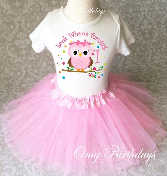 Owl Pink Tutu Set Girl Outfit