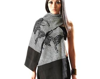 Ninja Silk Scarf (using Vintage Kimono)