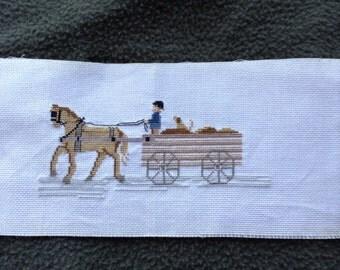 Amish Wagon cross stitch