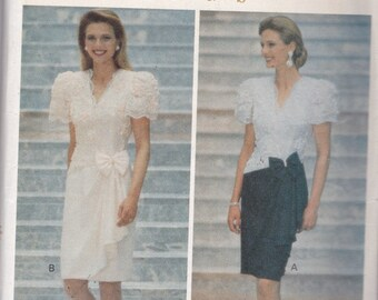 Butterick 5697 Vintage Pattern Womens Dress in 2 Variations  Size 18,20,22 UNCUT
