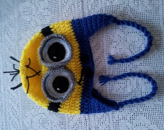 Minion Crochet Earflap Kids' Hat