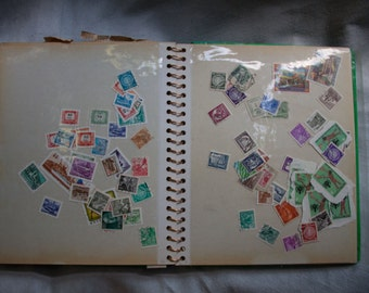 Vintage Stamp Collection Book