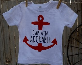 Captain Adorable. Baby Tee or Onesie.
