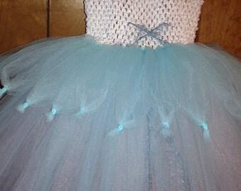 Periwinkle Tutu Dress - Handmade
