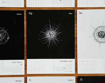 Science Calendar 2015 Calendar of the Elements - END of YEAR SALE