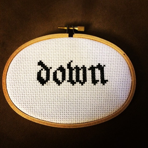 Down band cross stitch Phil Anselmo doom metal Pantera