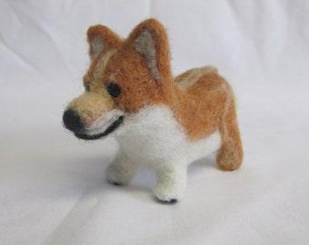 Needle Felted Corgi Pup