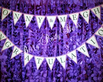 Engagement Banner, Pink and Purple Banner