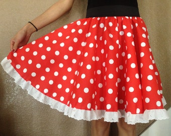Minnie Mouse Skirt With Lace For All Ages