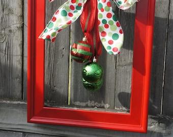 10x13 Red Frame Wreath