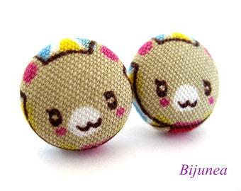 Bear earrings - Brown bear stud earrings - Bear studs - Bear posts - Brown bear post earrings sf891
