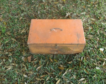Vintage Railroad Tool Fuse Box..21.5X12.5 Inches..Has Original Paint..Great Graphics on Box..Don't Pass this One Up
