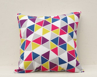Geometric Cushion Cover, Geometric Pillow Case, Decorative Pillow Case , 16x16 - Geometric04