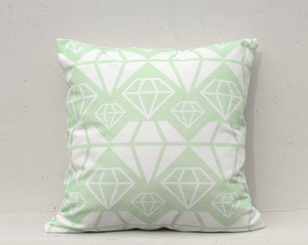 Mint Geometric Cushion Cover, Geometric Pillow Case, Decorative Pillow Case , 16x16 - Geometric08