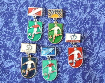 Football - Low price - Vintage badges pins - Football clubs USSR