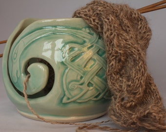 Celtic yarn bowl - made to order