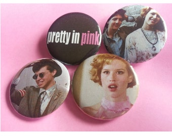 Pretty in Pink Pinback Buttons