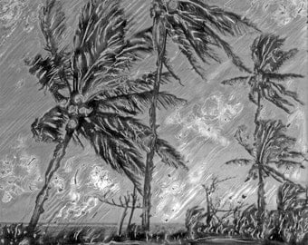 Island Palms In The Breeze