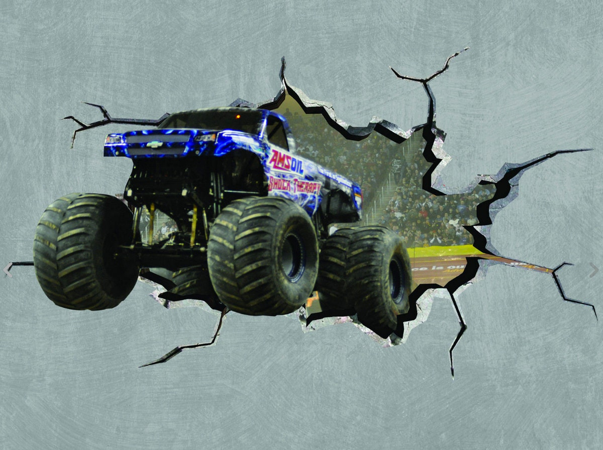 Monster Truck Wall Stickers Part - 25: ?zoom