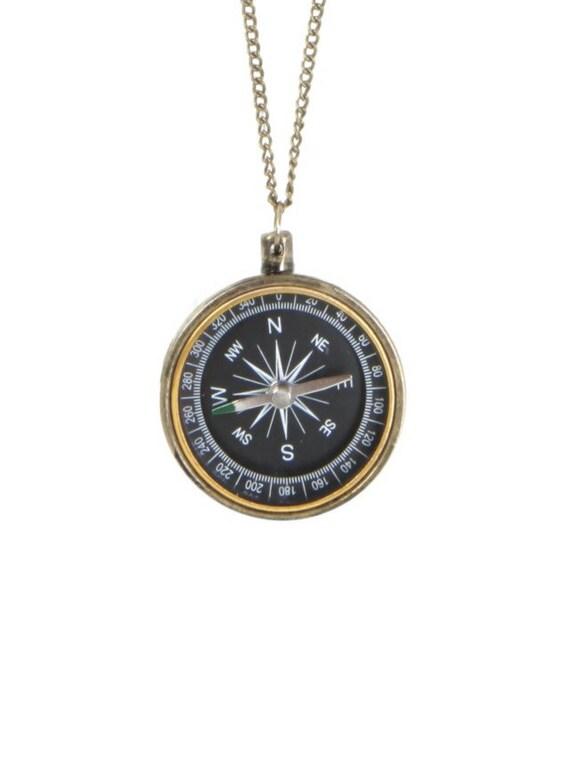 Compass Necklace Antique Bronze Nautical Vintage Necklace ...