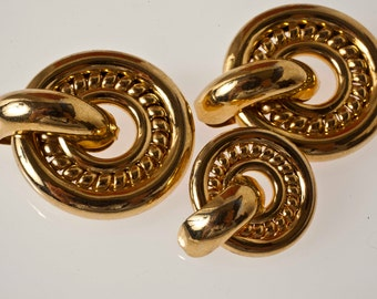 vintage buttons. 80. golden years. with braid.