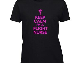 Keep Calm I'm A Flight Nurse T-Shirt Mens Ladies Womens Kids Youth