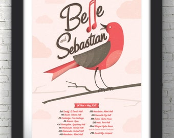 Belle & Sebastian | UK Tour Poster 2015 | A3 Digital Print