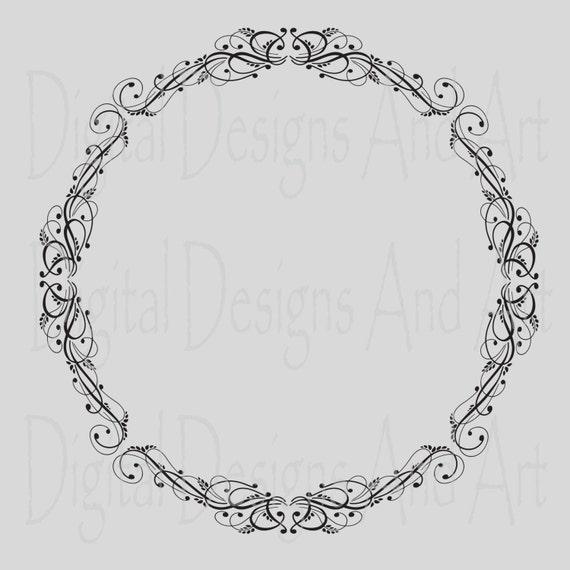 Round wedding clipart frames circle frame digital clip