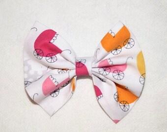Multicoloured Pram Hair Bow