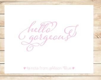Printable Stationery - Printable, DIY Personal Stationary - Hello Gorgeous