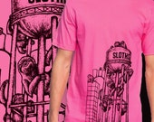 Sloths Furnace Small T-Shirt - Pink