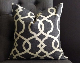 Pillow Cover, Gray Pillow Cover, HEIDI