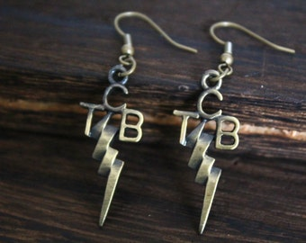Takin' Care of Business tcb earrings Elvis Presley jewelry Christmas gift E13