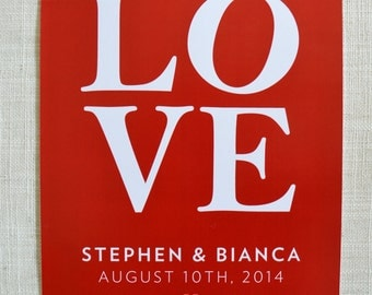 """LOVE Poster, 8x10"""" perfect for Valentine's Day, Anniversaries or Wedding and Engagement Gifts! Digital File only."""