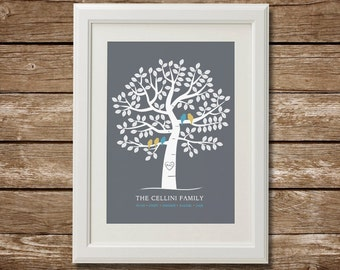 Personalized Family Tree with Names, Printable Family Tree, Custom Family Tree, Family Christmas Gift, Family Names