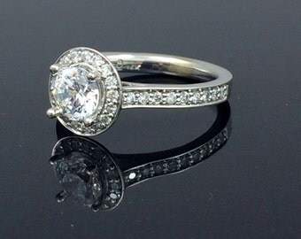 "Diamond Halo Semi Mount Ring ""perfection"""